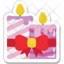 Candle Burning Decoration Icon