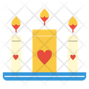 Love Candle Candles Icon
