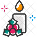 Candle And Berry Icon