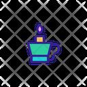 Candlestick Light Bulb Icon