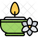 Candle Flower Aromatherapy Icon