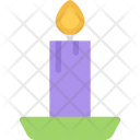 Candle New Year Icon