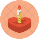 Candle On Heart Icon