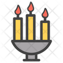 Candle Stand Candles Candle Flame Icon