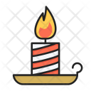 Candle Xmas Decoration Icon