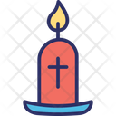 Candle with cross Icon