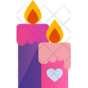 Candle Love Heart Icon