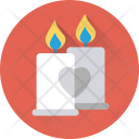 Candles Burning Decoration Icon