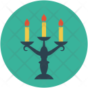 Candles Halloween Light Icon