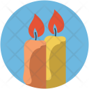Candles Burning Decorative Icon