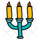 Candles Stand Fire Icon