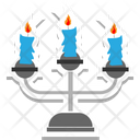 Candles Halloween Decoration Icon