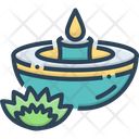 Candles Flame Light Icon