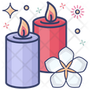 Burning Candles Candle Light Decorative Candle Icon