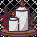 Candles Thanksgiving Celebration Icon