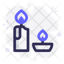 Candles Light Flame Icon