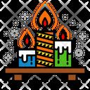 Candles Celebration Decoration Icon
