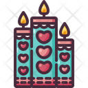 Candles Love Valentines Day Icon
