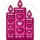 Candles Valentines Day Romantic Icon