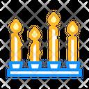 Candles Burning Religion Icon