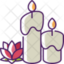 Candles Relaxation Lotus Icon