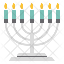 Candlestick Christmas Decoration Icon