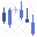 Candlesticks chart Icon