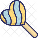 Candy Confectionery Heart Lollipop Icon