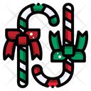 Candy Cane Sweet Icon