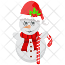 Candy Cane Santa Icon