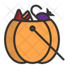 Candy Halloween Basket Icon