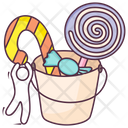 Halloween Candy Candy Basket Candy Bucket Icon