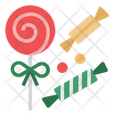 Candy Cane Lollipop Sweets Icon