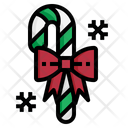 Candy Cane Christmas Icon