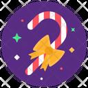 Candy Cane Peppermint Stick Santa Cane Icon