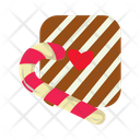 Candy Cane Christmastide Candy Icon