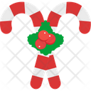 Candy Cane Peppermint Candy Candy Stick Icon