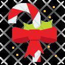 Candy Cane Ribbon Icon