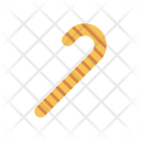 Cane Toffee Candy Icon