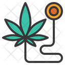 Cannabis In Medical Icon
