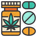 Cannabis Pills Icon