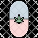 Pill Cannabis Cannabidiol Icon