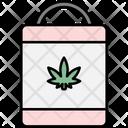 Shopping Bag Cannabis Cannabidiol Icon