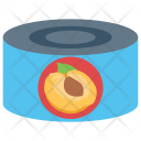 Canned Peach Fruit Icon