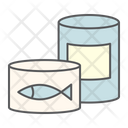 Canned Food Tin Can Container Fish Pet Icon
