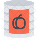 Peach Canned Food Icon