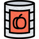 Canned Peach Food Icon