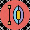 Canoe And Oar Icon