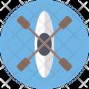 Canoe With Oar Canoe Boating Icon