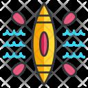Canoe Canoeing Icon